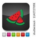 watermelon icon  vector fruit... | Shutterstock .eps vector #1142727098