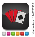 playing card illustration ...   Shutterstock .eps vector #1142727155
