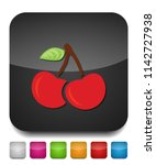 cherry icon  vector fruit... | Shutterstock .eps vector #1142727938