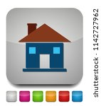 home icon  vector real estate... | Shutterstock .eps vector #1142727962
