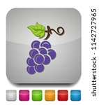 grapes icon  vector fruit... | Shutterstock .eps vector #1142727965