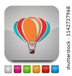vector air balloon icon ... | Shutterstock .eps vector #1142727968