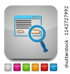 search html icon  internet... | Shutterstock .eps vector #1142727992