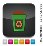 recycle icon  recycling garbage ... | Shutterstock .eps vector #1142727998