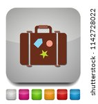 travel bag icon   suitcase with ... | Shutterstock .eps vector #1142728022