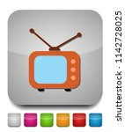 tv icon  vector television... | Shutterstock .eps vector #1142728025