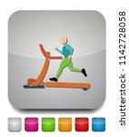 treadmill icon  fitness ... | Shutterstock .eps vector #1142728058