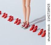 Girl Teen Doll In Red Sneakers...