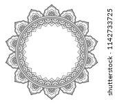 circular pattern in form of... | Shutterstock .eps vector #1142733725