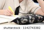 school student studying doing... | Shutterstock . vector #1142743382