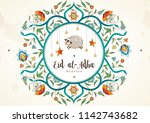 vector muslim holiday eid al... | Shutterstock .eps vector #1142743682