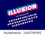 modern bold 3d font illusion ... | Shutterstock .eps vector #1142749292