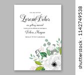 wedding invitation card with... | Shutterstock .eps vector #1142749538