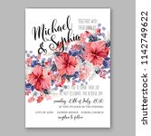 wedding invitation card with... | Shutterstock .eps vector #1142749622