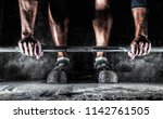 male athlete preparing for... | Shutterstock . vector #1142761505