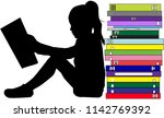 silhouettes of people with a... | Shutterstock .eps vector #1142769392