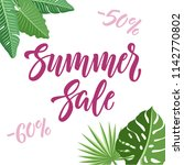 summer sale and discounts... | Shutterstock .eps vector #1142770802