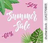 summer sale and discounts... | Shutterstock .eps vector #1142770805