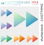 fast forward geometric... | Shutterstock .eps vector #1142774942