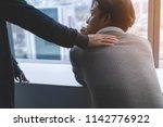 ptsd mental health concept ... | Shutterstock . vector #1142776922