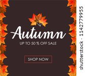 autumn background sale | Shutterstock .eps vector #1142779955