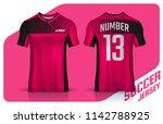 t shirt sport design template ... | Shutterstock .eps vector #1142788925