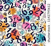 seamless pattern with different ...   Shutterstock .eps vector #1142795612