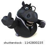 fun horse   3d illustration   Shutterstock . vector #1142800235