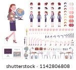female teacher character... | Shutterstock .eps vector #1142806808