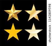gold star icon set vector | Shutterstock .eps vector #1142809598