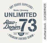 unlimited raw denim   vintage... | Shutterstock .eps vector #1142809655