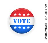 vote badge   election and... | Shutterstock .eps vector #1142811725