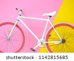 Colorful Bike On Pastel Color...