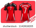 t shirt sport design template ... | Shutterstock .eps vector #1142818205