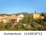 houses are in provencal city...   Shutterstock . vector #1142818712