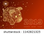 Cute Funny Pig. Happy New Year...