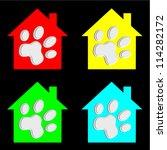 pets home illustration set | Shutterstock .eps vector #114282172
