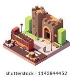 vector isometric tourist... | Shutterstock .eps vector #1142844452