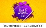 back to school horizontal... | Shutterstock .eps vector #1142852555