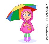 A Funny Little Girl In A Pink...