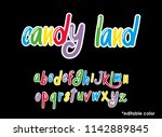 colorful font vector. editable...