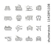 public transport related icons  ... | Shutterstock .eps vector #1142891108