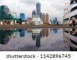 beautiful city skyline viewed...   Shutterstock . vector #1142896745