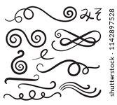 swoosh curls swash swish with... | Shutterstock .eps vector #1142897528