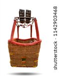Hot air balloon basket isolated ...