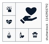 vector set of love icons.... | Shutterstock .eps vector #1142903792