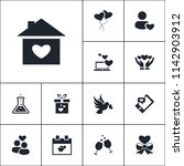 vector set of love icons.... | Shutterstock .eps vector #1142903912
