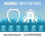 house insurance business... | Shutterstock .eps vector #1142905682