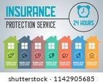 house insurance business... | Shutterstock .eps vector #1142905685