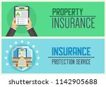 house insurance business... | Shutterstock .eps vector #1142905688